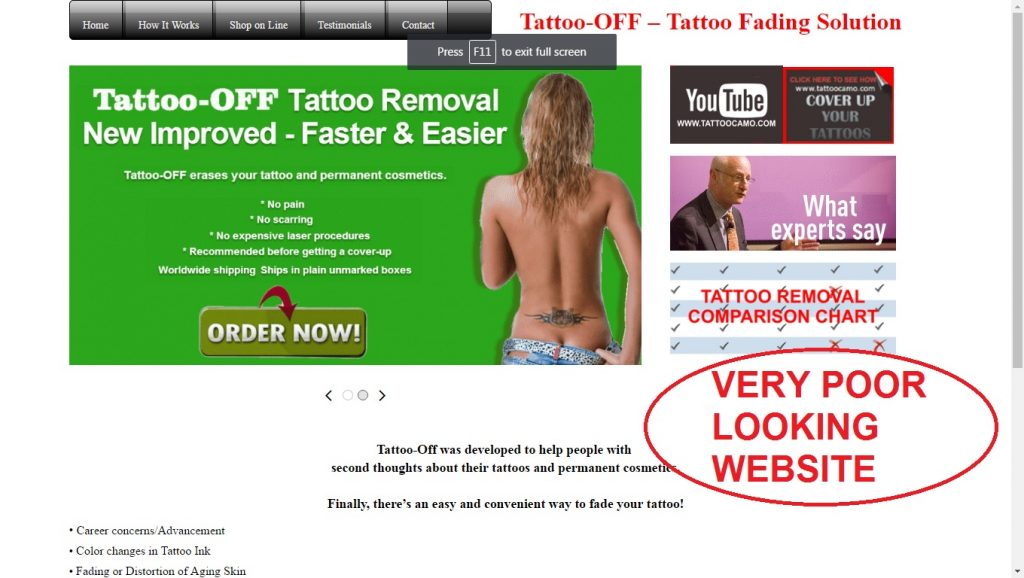 tattoo-off review website