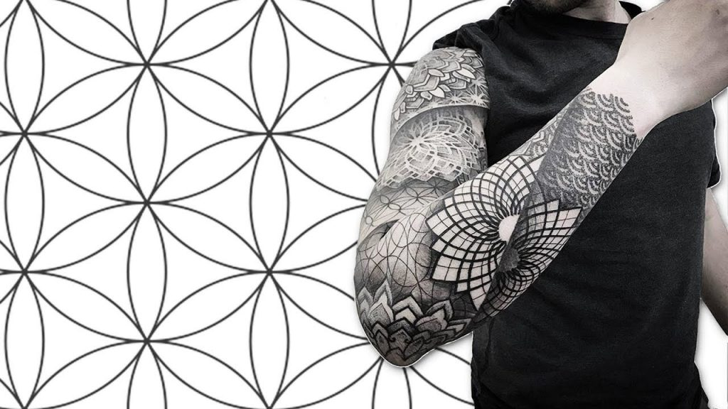 sacred geometry tattoo